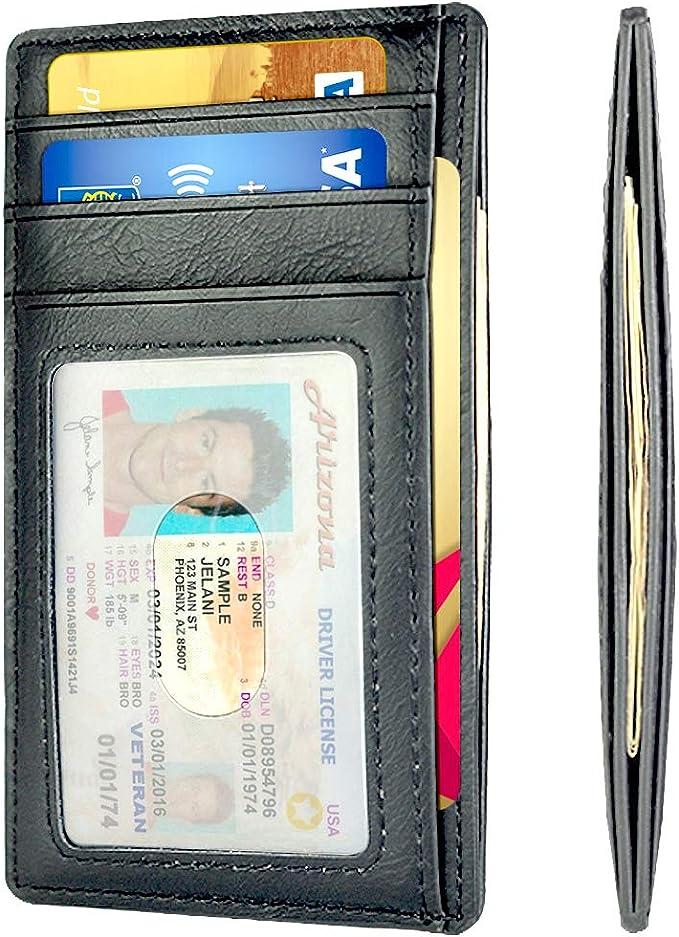 Amazon.com: Billetera minimalista delgada con bolsillo ...
