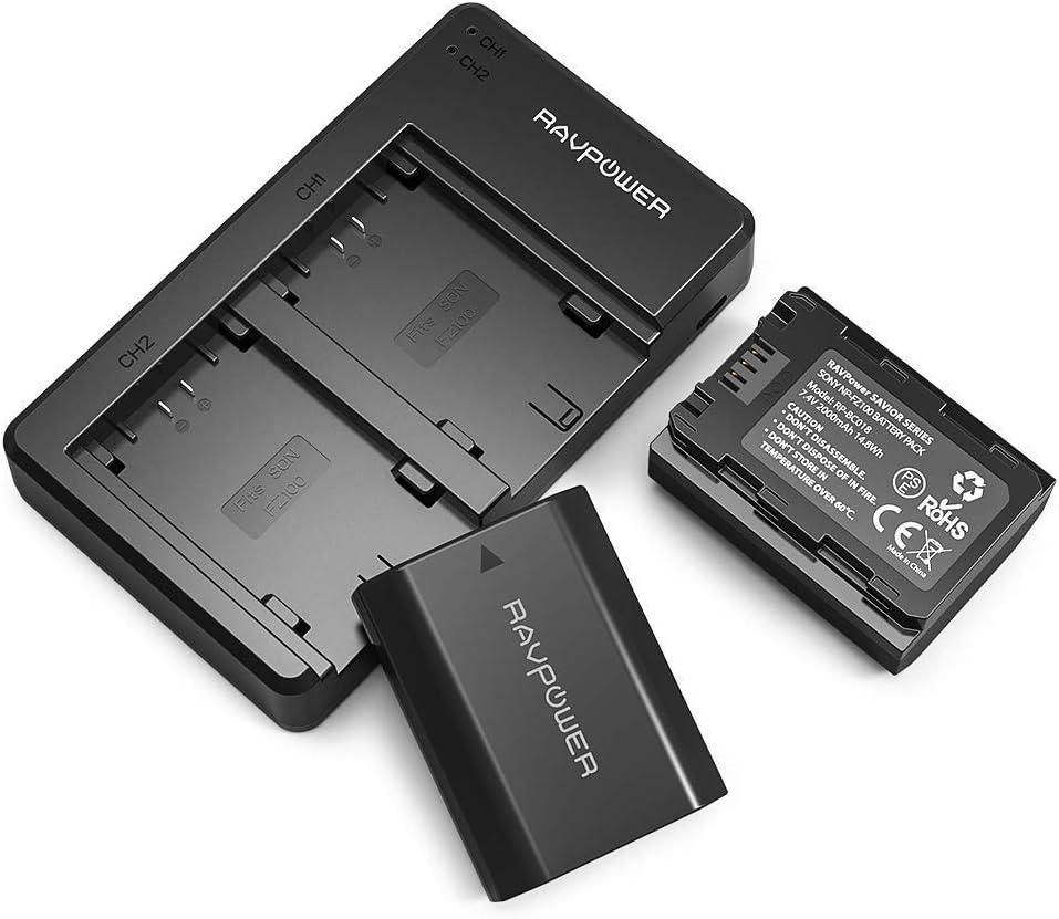 Cargador de batería de Repuesto para Sony Alpha A7 III, A7R III, A9, Sony Alpha 9, A7R3 (2 Unidades, opción de Carga versátil, 2000 mAh): Amazon.es: Electrónica