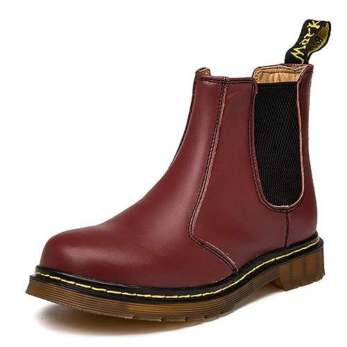 separation shoes 60aed cdff1 Orktree Unisex-Erwachsene Chelsea Boots Damen Stiefel Derby Wasserdicht  Kurz Stiefeletten Schuhe Herren Worker Boots