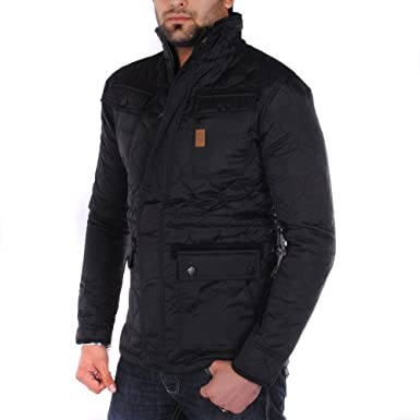 523d2f5928bb Crosshatch Laxos Cord Patch Quilted Jacket Black XL  Amazon.co.uk ...
