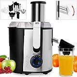Monzana® Entsafter für Obst und Gemüse aus Edelstahl Motorleistung max. 1100W große 85 mm Einfüllöffnung inkl. Reinigungsbürste Saftpresse Obstpresse Fruchtentsafter