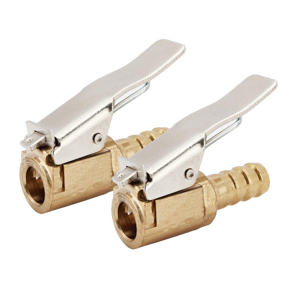 SENZEAL 2x connettore a valvola d'aria ottone aperto clip di flusso sul mandrino valvola per Inflator 8mm SZ-050