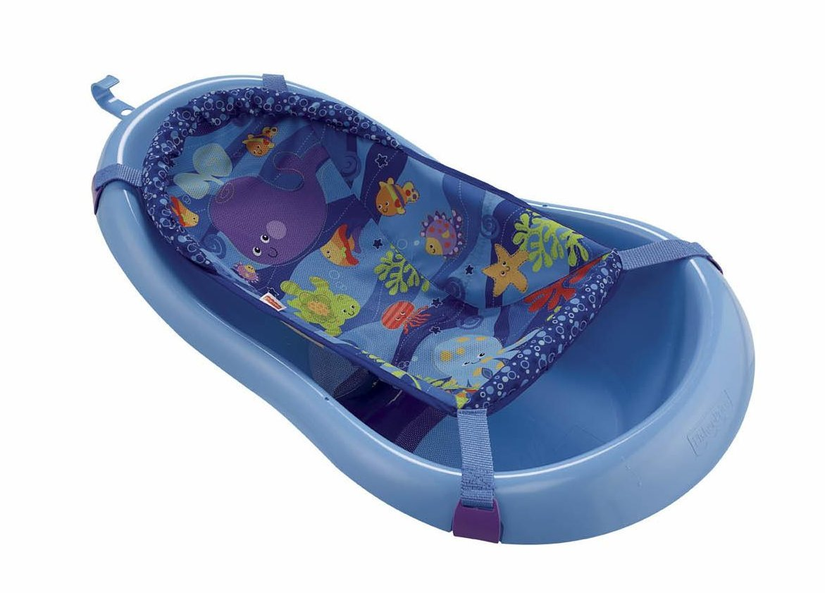 Amazon.com : Fisher-Price Ocean Wonders Blue Bath Tub Toy ...