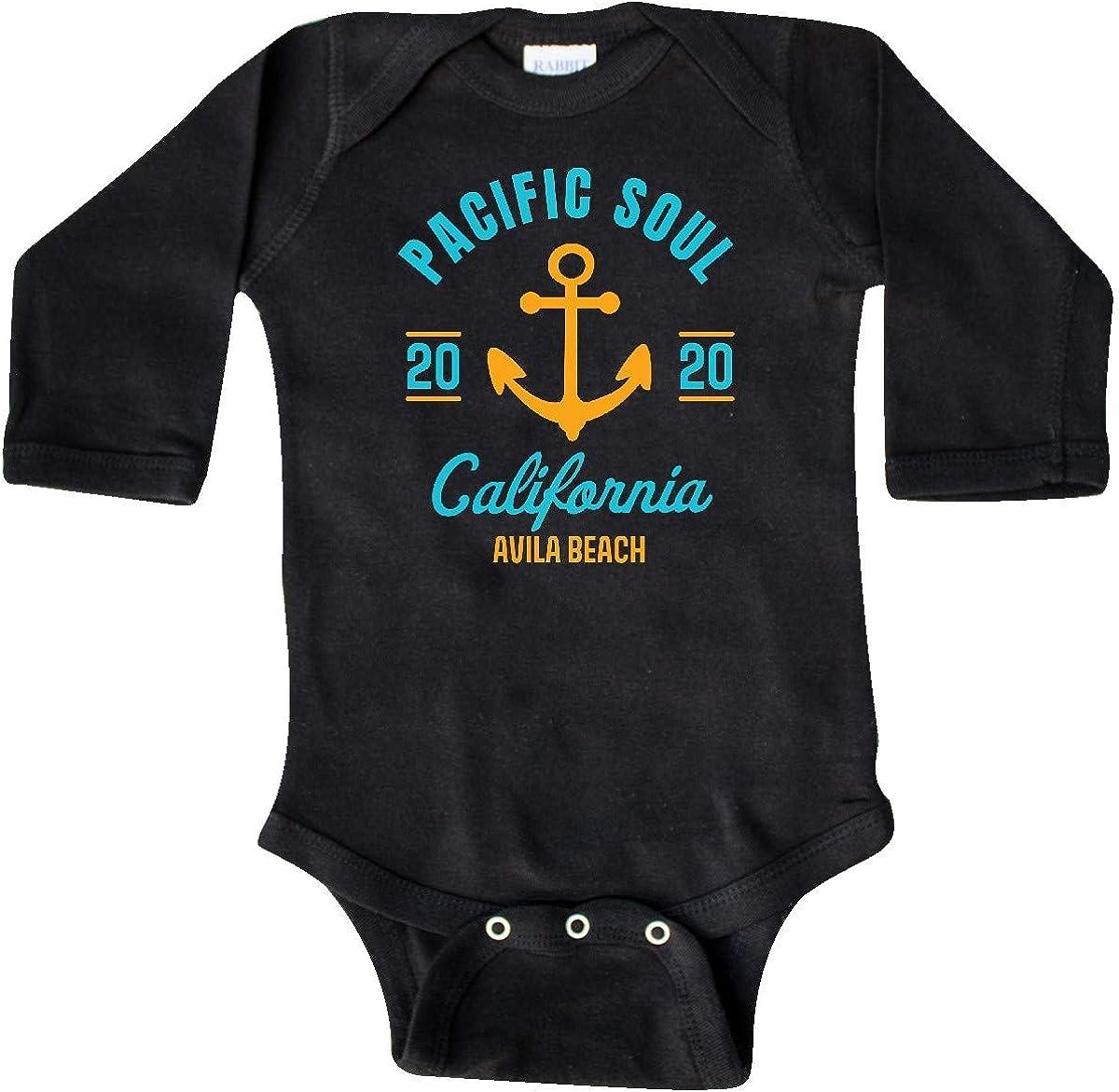 inktastic Pacific Soul California Avila Beach 2020 with Long Sleeve Creeper
