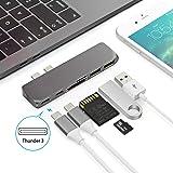 USB C ハブ、タイプCハブ、MacBook Pro USB Cハブ、2016 /2017 MacBook Pro 13/15インチ用、40Gbps Thunderbolt 3充電ポート付きType C ハブ、データ転送USB C Hub、アルミニウムType-C Hub 、Macbook Proハブ、USB 3.0ハブ