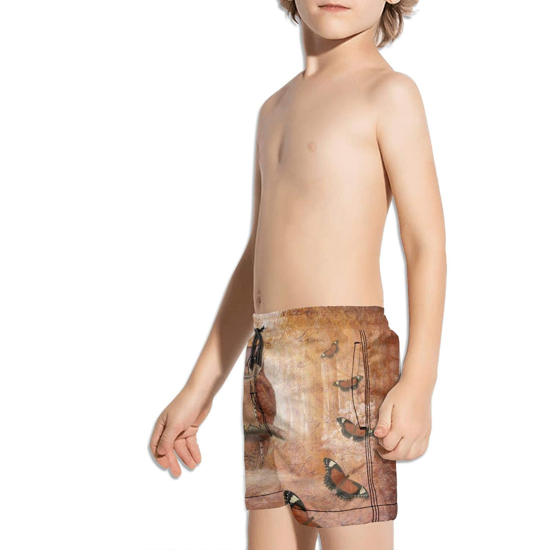 Etstk owl Kids Comfortable Beach Shorts for Students