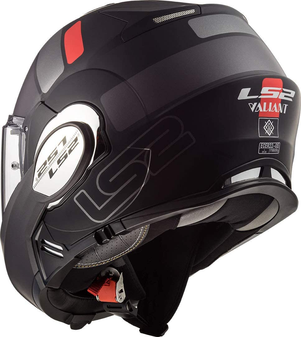LS2 Motorradhelm FF399 VALIANT PROX MATT H-V Gelb Schwarz Schwarz//Gelb XS