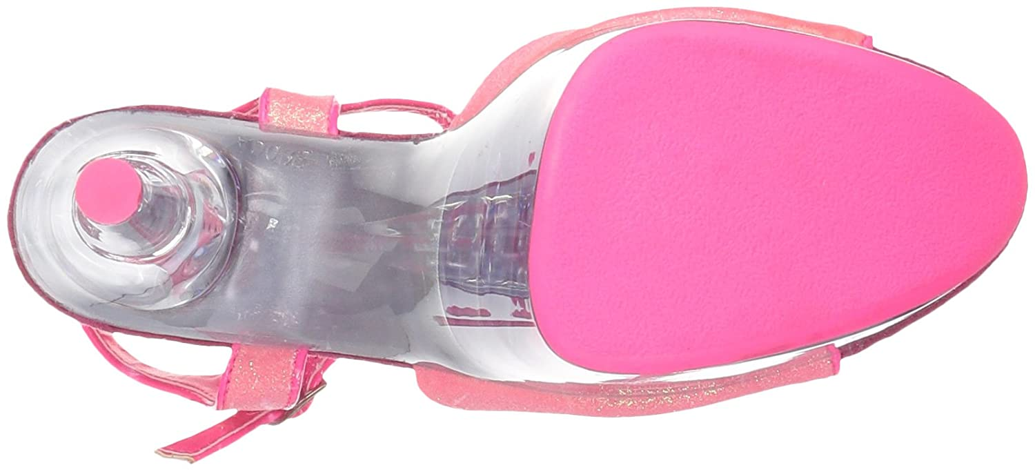Pleaser Women's Adore-709g Sandal B00XBW3D4Y 10 Pink B(M) US|Neon Pink Glitter/Neon Pink 10 Glitter 891403