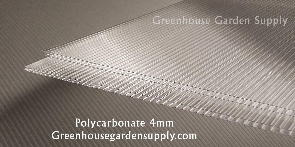 Polycarbonate Greenhouse Cover 4mm - Clear 24'' x 72'' (Pak of 10)