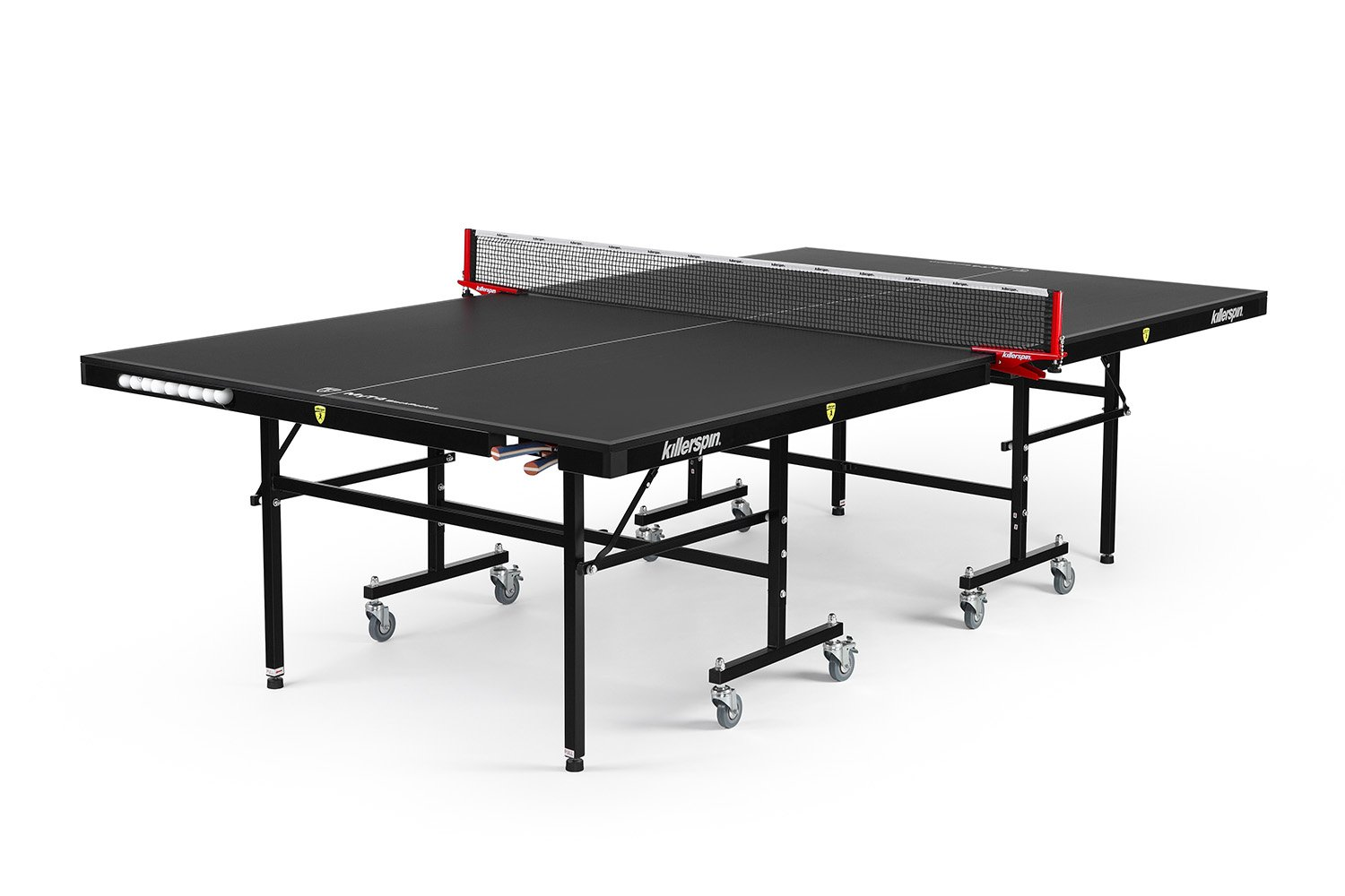Killerpin MyT4 BlackPocket Table Tennis Table - Premium Pocket Design Ping Pong Table by Killerspin