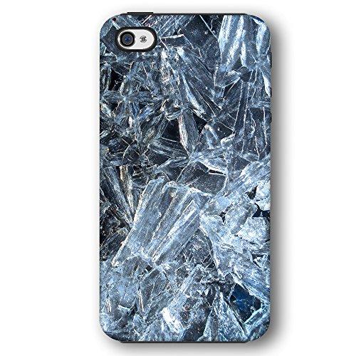 Blue Ice Shards on Black Background Apple iPhone 4 / 4S Phone Case