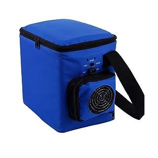 woyao13deng Auto Combi eléctrico nevera portátil, Mini de frigorífico para Auto y/6L Tiempo Libre Oxford Funda/Auto Frigorífico/Mini frigorífico/Silicio electrónicos aislamiento Box