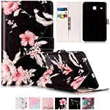 Galaxy T377v/T377a Case,Tab E 8.0'' Case,UUcovers Ultra Slim [Fancy Pattern] PU Leather Flip Stand Case Protective Cover for Galaxy Tab E 8.0 Inch SM-T375/T377a/v/p Tablet-Pink Flower