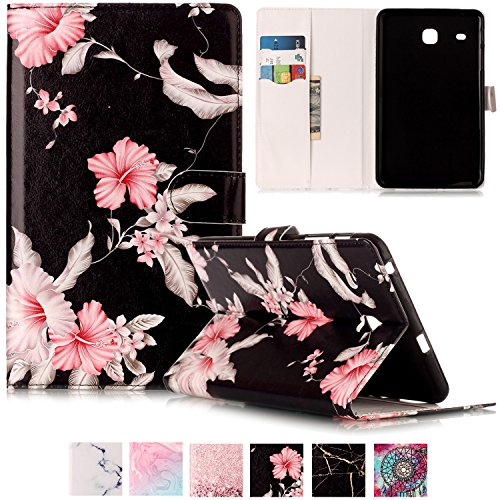 Galaxy T377v/T377a Case,Tab E 8.0'' Case,UUcovers Ultra Slim [Fancy Pattern] PU Leather Flip Stand Case Protective Cover for Galaxy Tab E 8.0 Inch SM-T375/T377a/v/p Tablet-Pink Flower by UUcovers