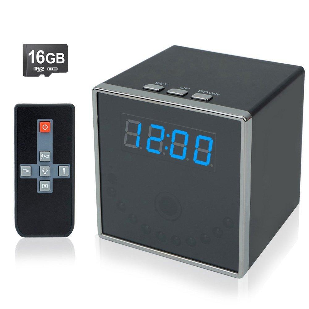 Toughsty™ 1080P高画質時計型隠しカメラ 16GBSDカード付き140°超広角動体検知機能暗視機能付き B01A5HHAM8