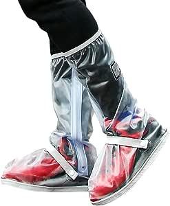 Cubrezapatillas Impermeable Botas de Agua - Cubiertas de Zapatos Antideslizante Lluvia Botas Reutilizables Calzado Fundas de Lluvia para Zapatos Hombres Mujeres Moto Cicleta