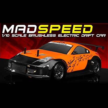 Amazon.com: Exceed RC 2,4 gHz MadSpeed Drift King Brushless ...