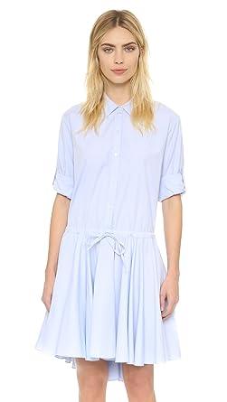 607a8dd92be DKNY Women s Pure Long Sleeve Shirtdress - Blue -  Amazon.co.uk ...