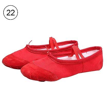 Waroomss Zapatillas de Ballet Lona para niñas Zapatillas de Ballet/ Zapatillas de Ballet/Zapatillas