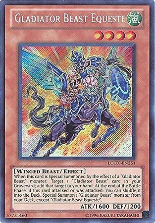 Secret Rare LCGX-EN244 Gladiator Beast Darius Unlimited Edition