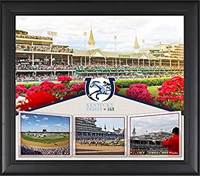 "Kentucky Derby 143 Framed 15"" x 17"" Event Collage - Fanatics Authentic Certified - Horse Racing Plaques, and Collages"