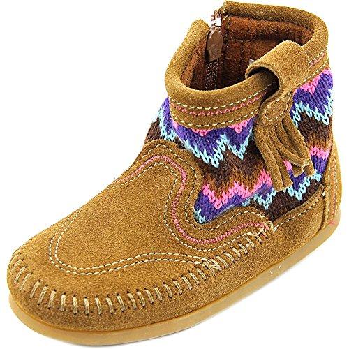 Minnetonka Girls Sweater Bootie Dusty Brown Size 8 M US Todd