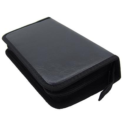 Amazon.com: grosun piel sintética de color negro estuches de ...