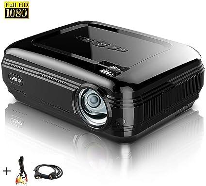 Proyector Full HD 1080P, LESHP Proyectores 3200 Lúmenes Portátil ...