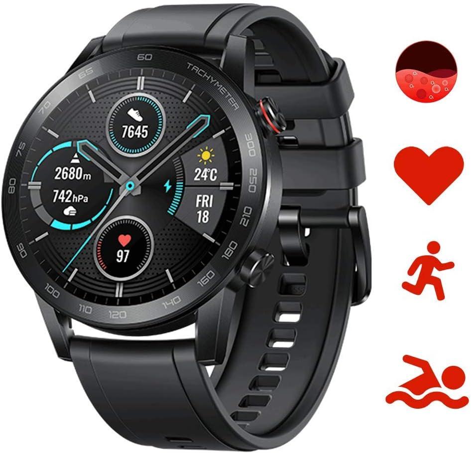 Honor Magic Watch 2 Smartwatch 46mm, Monitor de Frecuencia Cardíaca y Estrés, Spo2, GPS,14 Días Standy, 5ATM,15 Modos Deportivos, Llamada Bluetooth