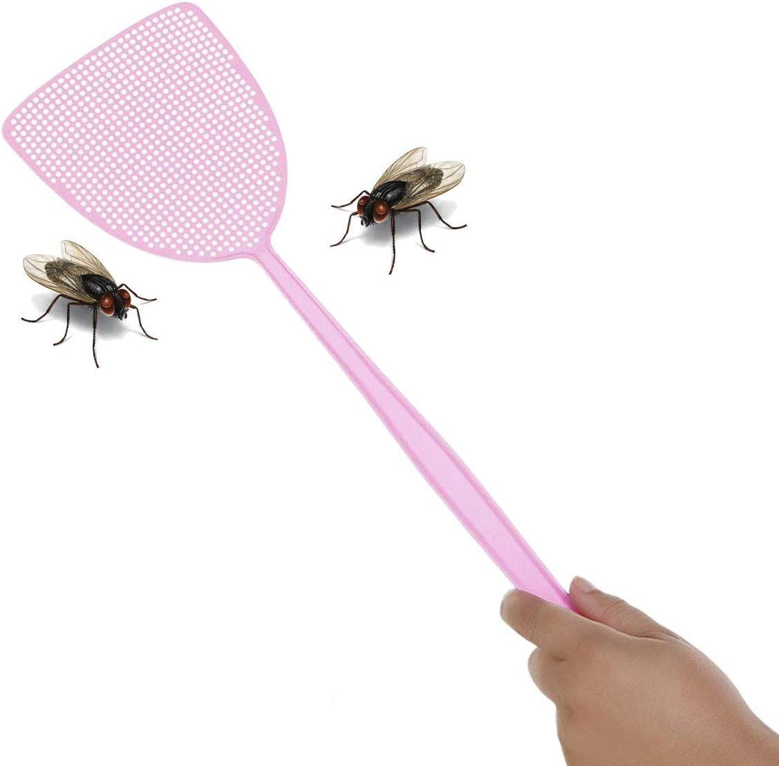 Green Pink and Blue 3Pcs Plastic Fly Swat Insect Mosquito Wasp for Flies TYPHEERX Fly Swatter