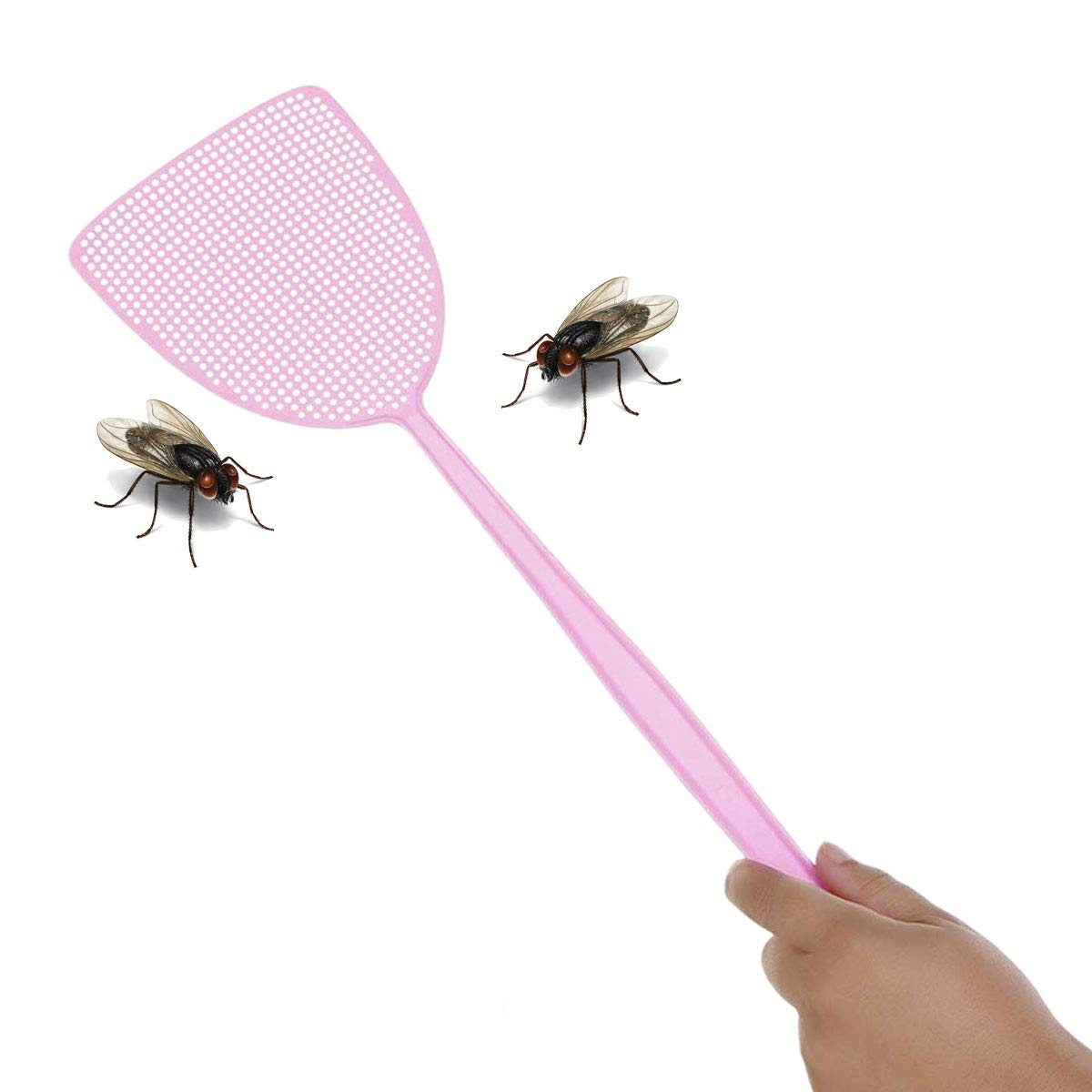 ExeQianming Fly Swatter Blue Green and Purple 3 Pack Plastic Fly Swat Insect Mosquito Wasp
