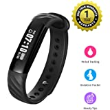 MEVOFIT Slim HR - Best Fitness Tracker Watch for Women with Period & Ovulation Reminders | Light Weight Activity Tracker & Fitness Band | Waterproof Fitness Tracker with Heart Rate Monitor