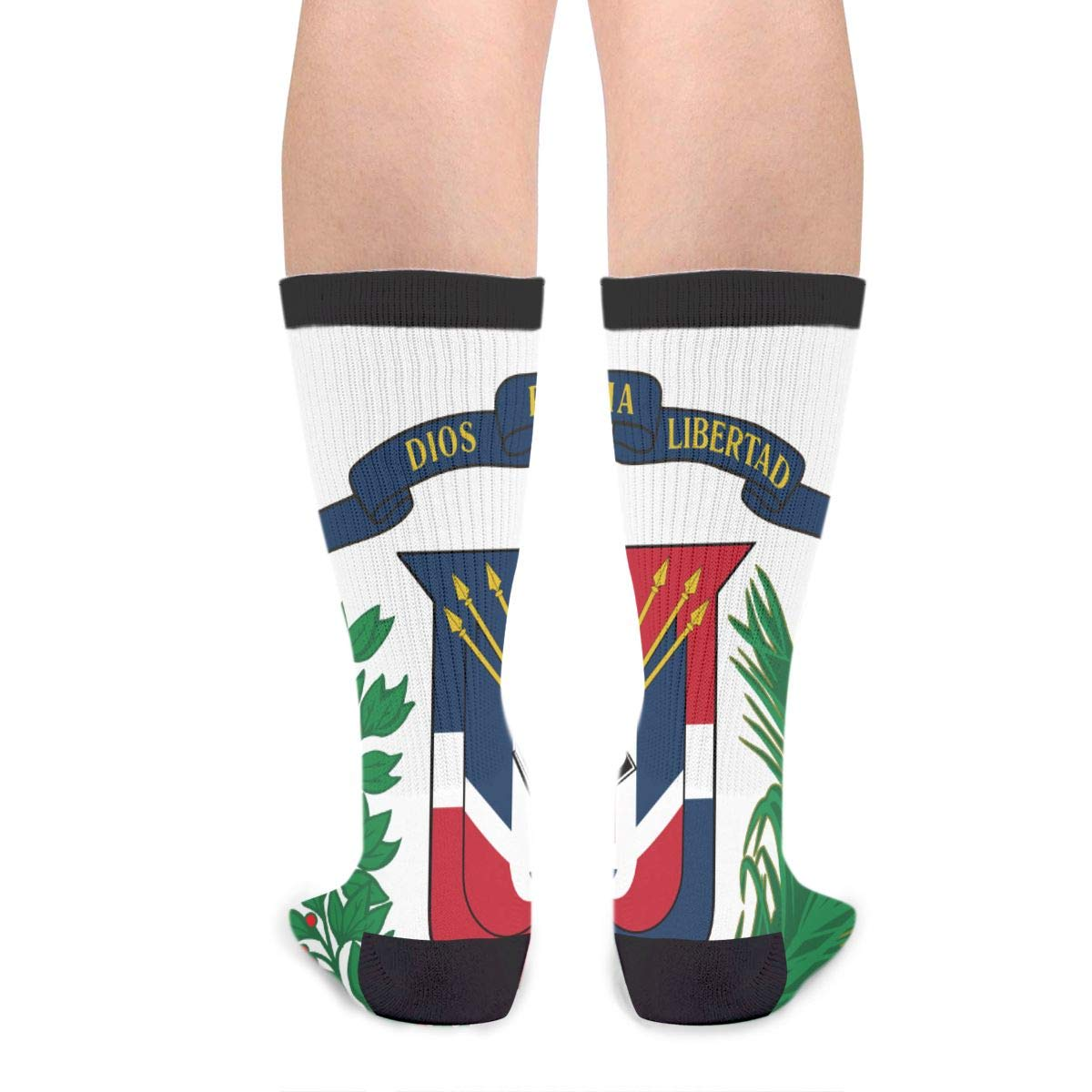 Coat Of Arms Dominican Republic Unisex Casual Sports Socks Knee High Athletic Long Tube Stockings