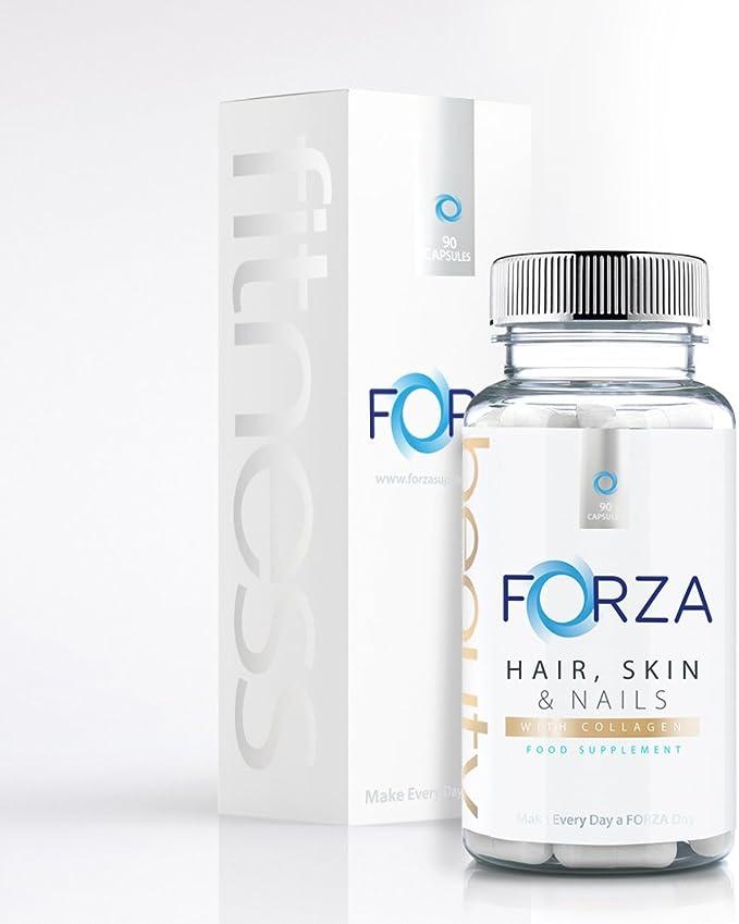 FORZA belleza de cabello, piel y uñas – Con colágeno añadido ...