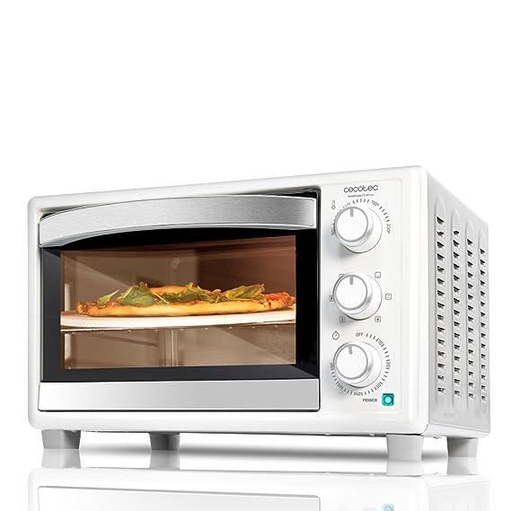 Horno de convección con piedra para pizza. Horno eléctrico multifunción de sobremesa con 26 litros de capacidad. Ideal para pizzas. Cocina por convección.