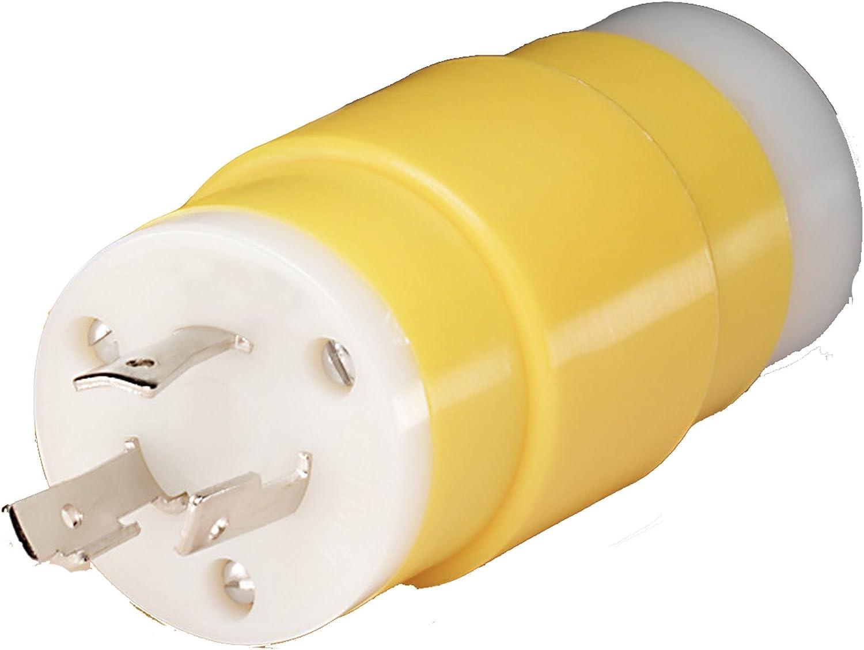 Marinco 30 Amp  125//250V  Marine Grade Twist Lock Male Cord End