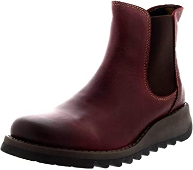 Fly london Salv Purple Leather Womens Ankle Boots