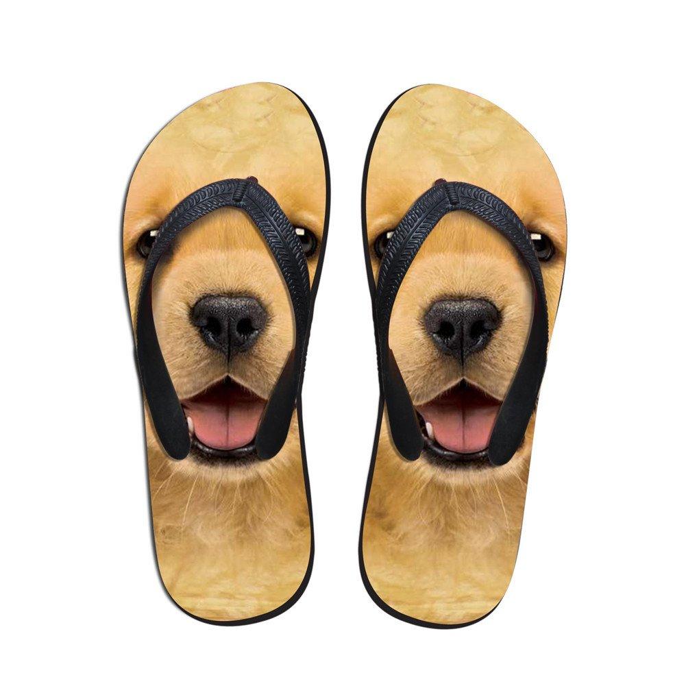 Coloranimal 3D Animal Printed Flip Flops for Women Non Slip Home Rubber Slipper Flats B07CWLN5JB 7-8 B(M) US|Dog