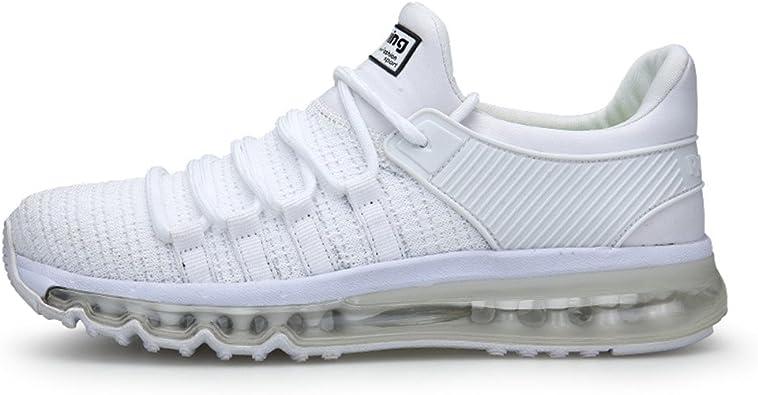 TORISKY Zapatillas de Deportes Zapatos Deportivos Running Zapatillas para Hombre Rojo Blanco Gris Azul (8073-White44): Amazon.es: Zapatos y complementos
