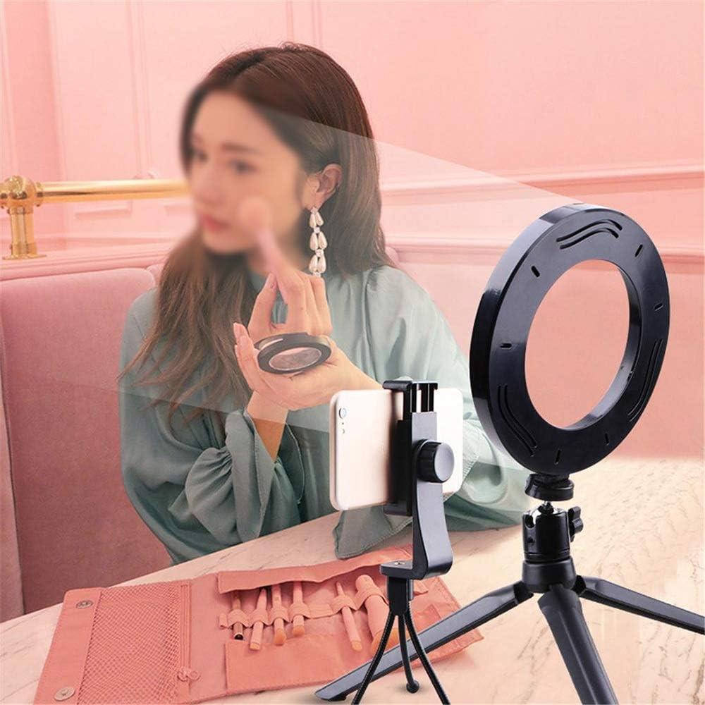 Color, Size : 20cm Hexiaoyi Desktop Bracket Fill Light Mobile Phone Live Beauty LED Ring Light Anchor Self-Timer Photography Tripod