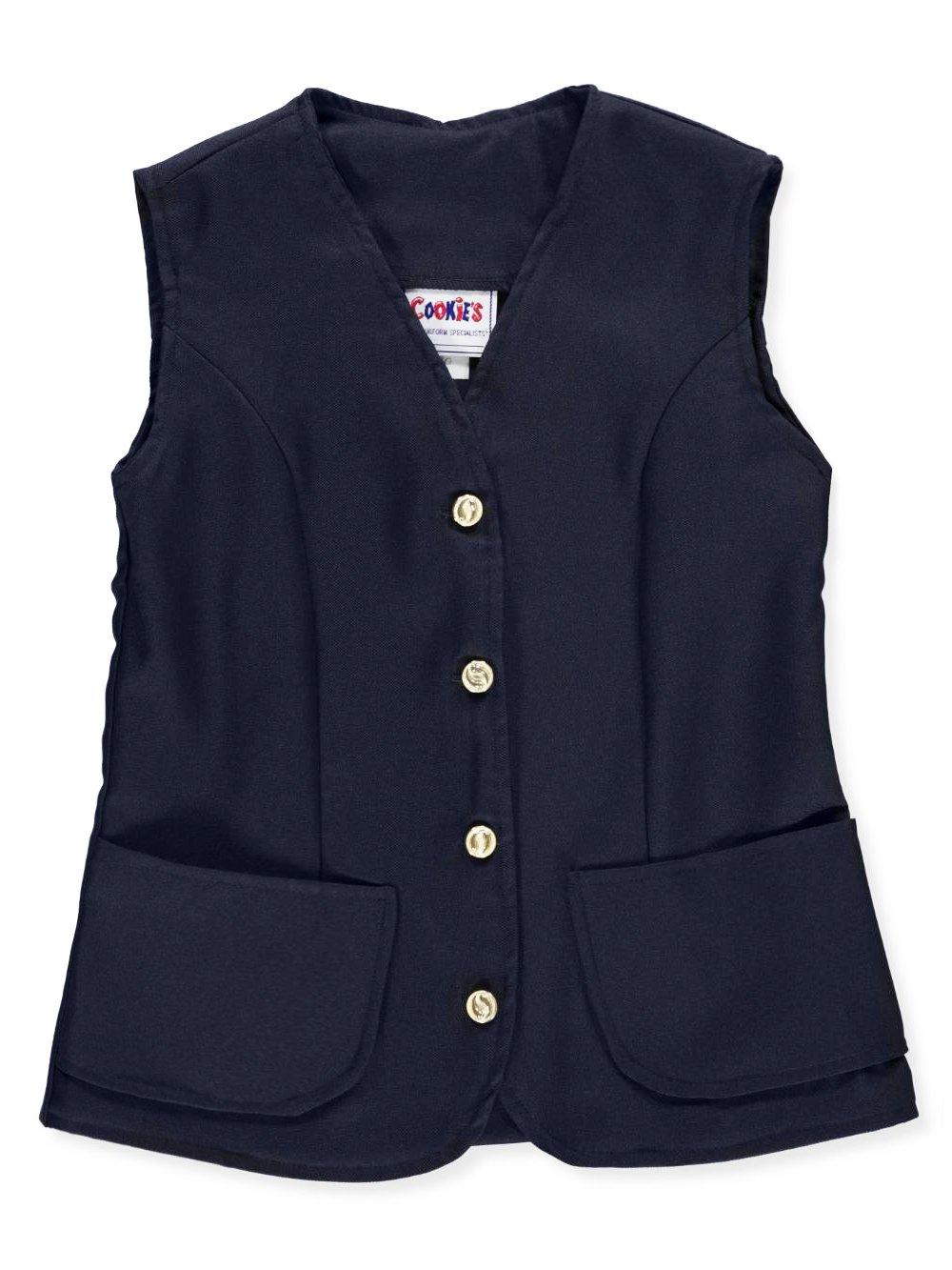 Cookie's Brand Big Girls' Vest - navy, 8