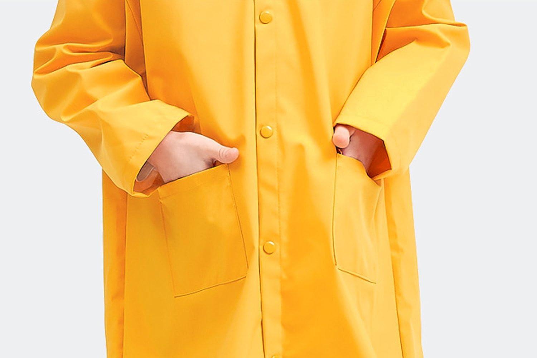 BXT Kids Dinosaur Raincoat Hoodie Rainwear Age 2-5 Toddlers Cute Cartoon Rain Jacket