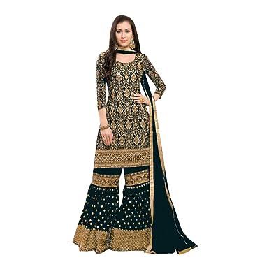 221e012bf9 Amazon.com: Designer Party Wear Garara Palazzo Salwar Kameez Pant Custom to  Measure Indian Ethnic Wear HIT 2724: Clothing
