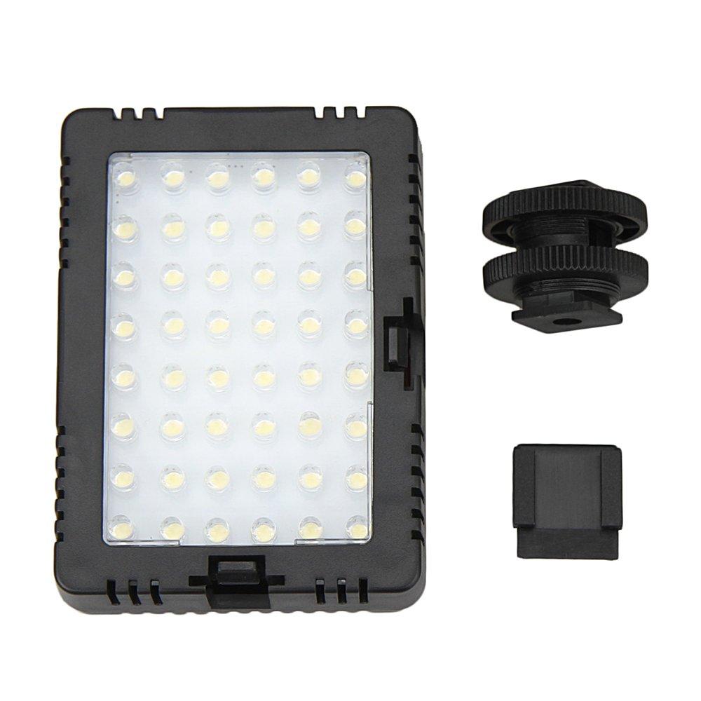 JJC LED-48D Video LED light For DSLR Camera Camcorder Canon Sony Nikon & Standard Shoe