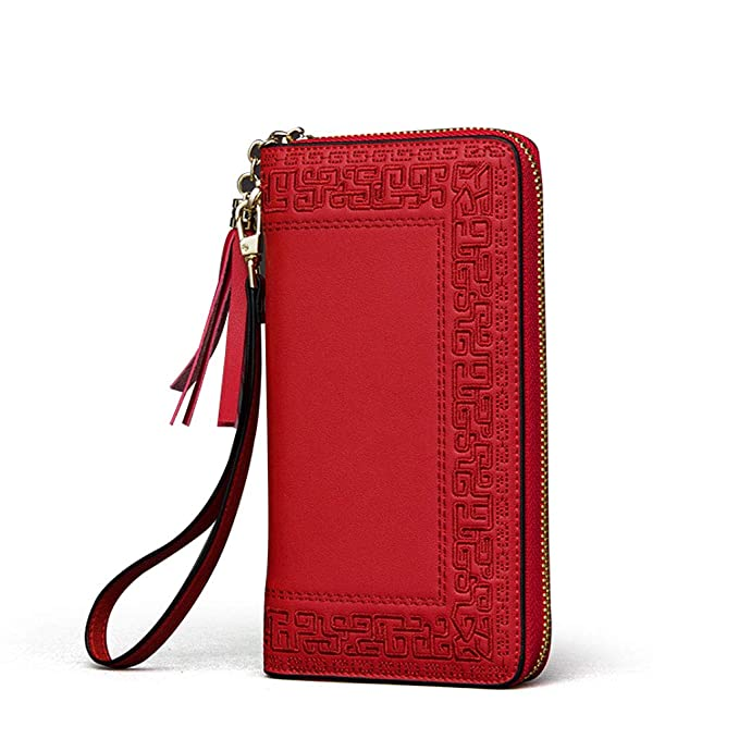 Amazon.com: ZDD Hand Holding Wallet- Hand-Embroidered Wallet ...