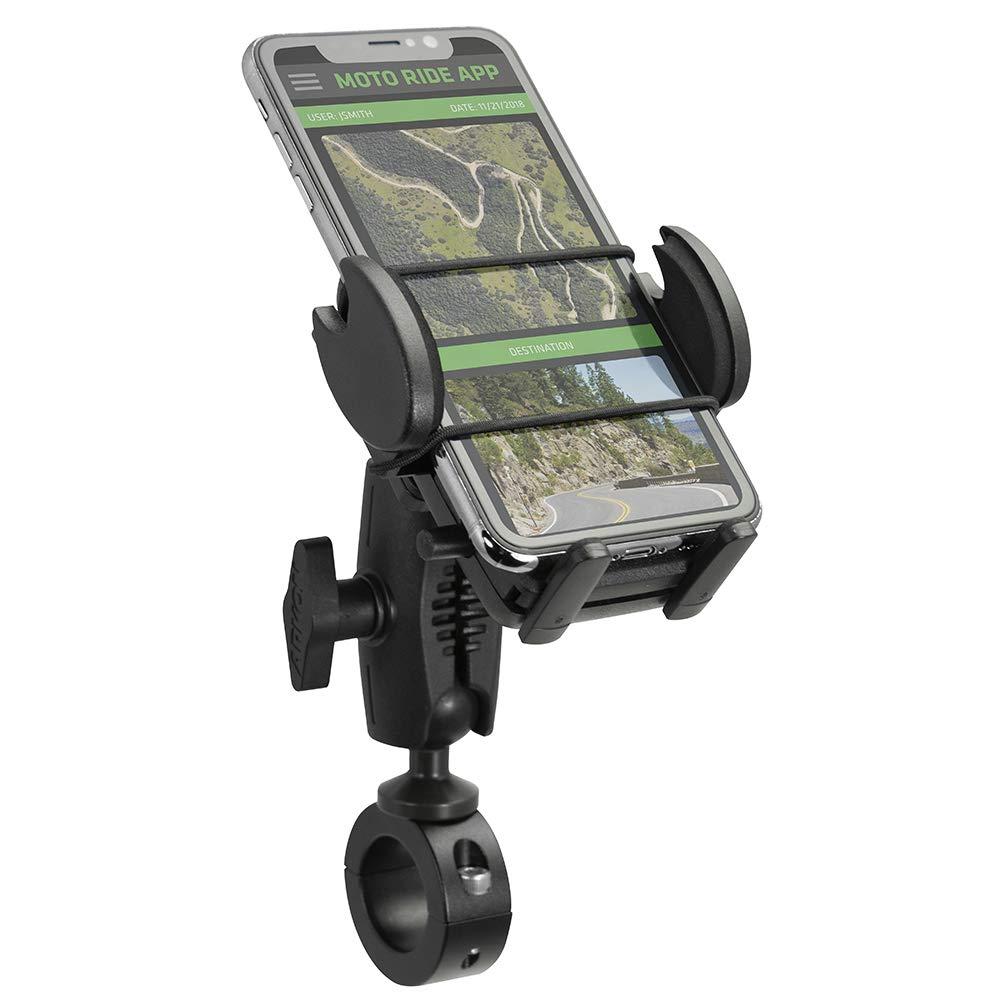 Arkon Mega Grip 25mm Robust Aluminum Motorcycle Handlebar Smartphone Mount Black Retail