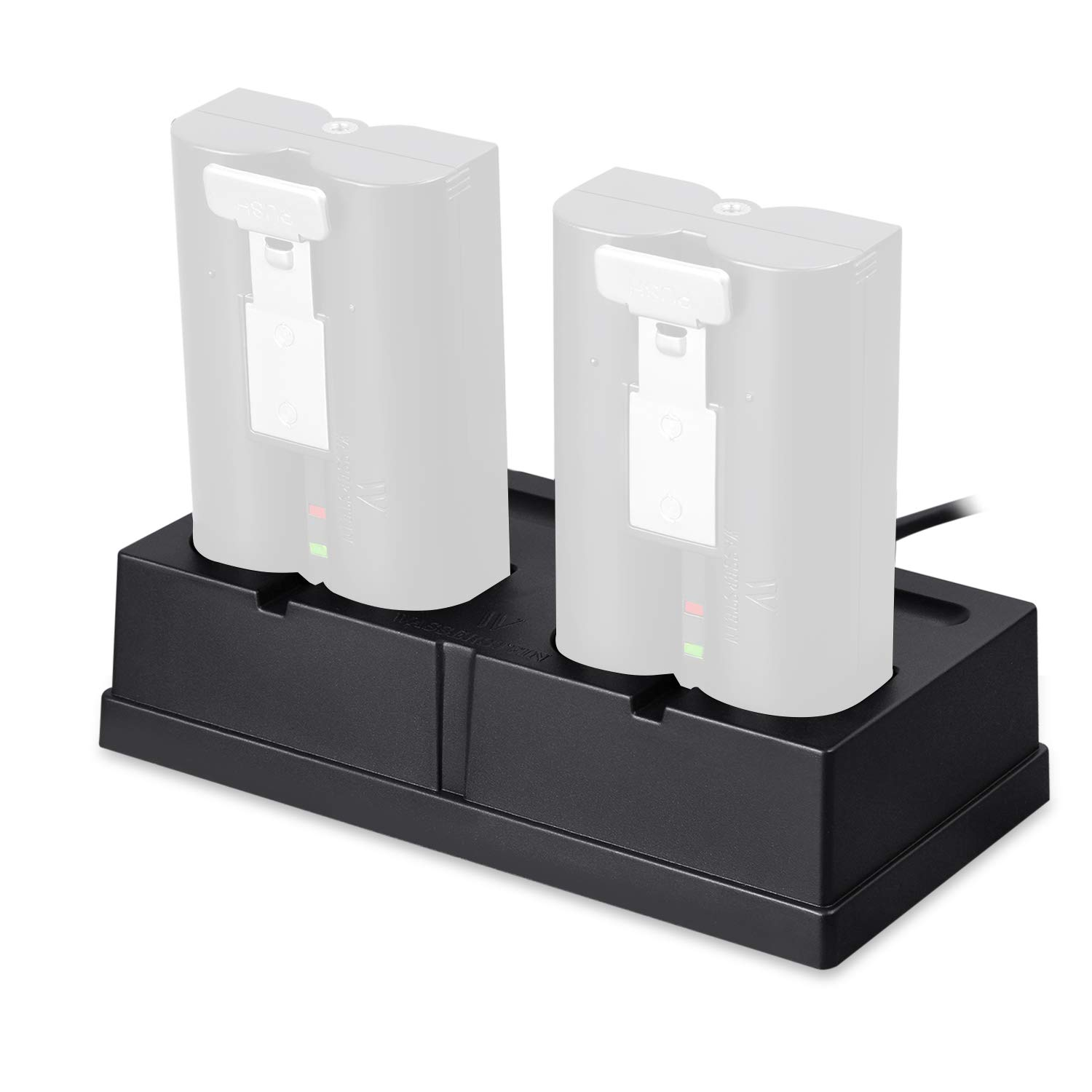 Charging Station Compatible with The Rechargeable Batteries for Ring Spotlight Cam Battery, Ring Video Doorbell 2, Ring Stick Up Cam Battery HD, and Ring Door View Cam by Wasserstein
