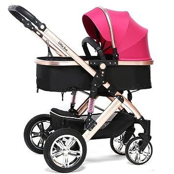 Carro De Bebé Azul / Naranja / Rosa / Púrpura / Rojo Puede Sentarse / Mentir Ligero Plegable Trolley Amortiguador Toldo ...