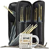 LTC® 24pcs Lock Training Set Locksmith Practice Tools with Crystal Padlocks Lock