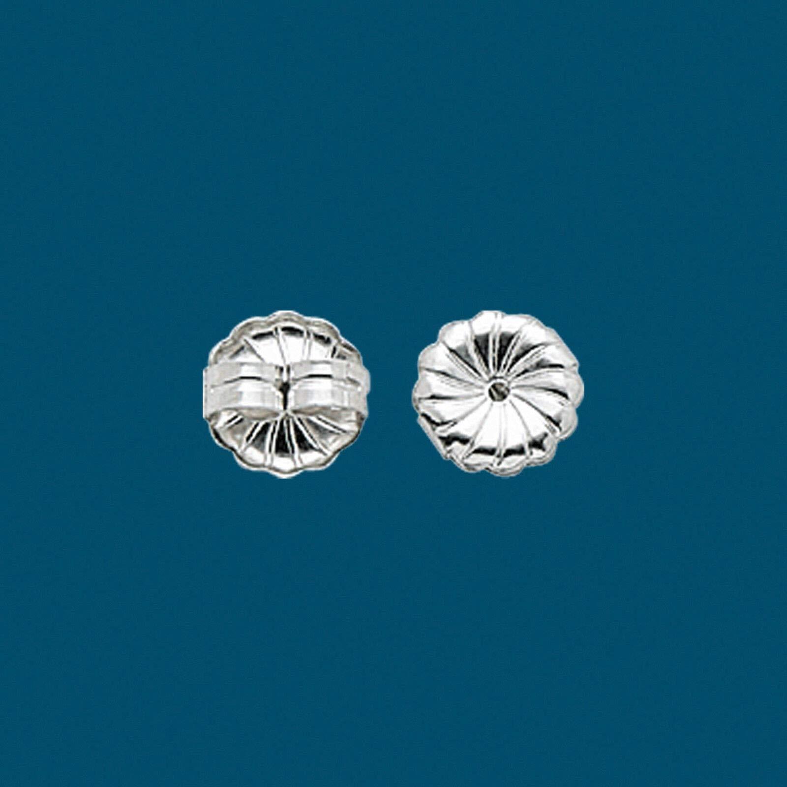100 pcs Sterling Silver 925 Earring Backs Ear Nuts